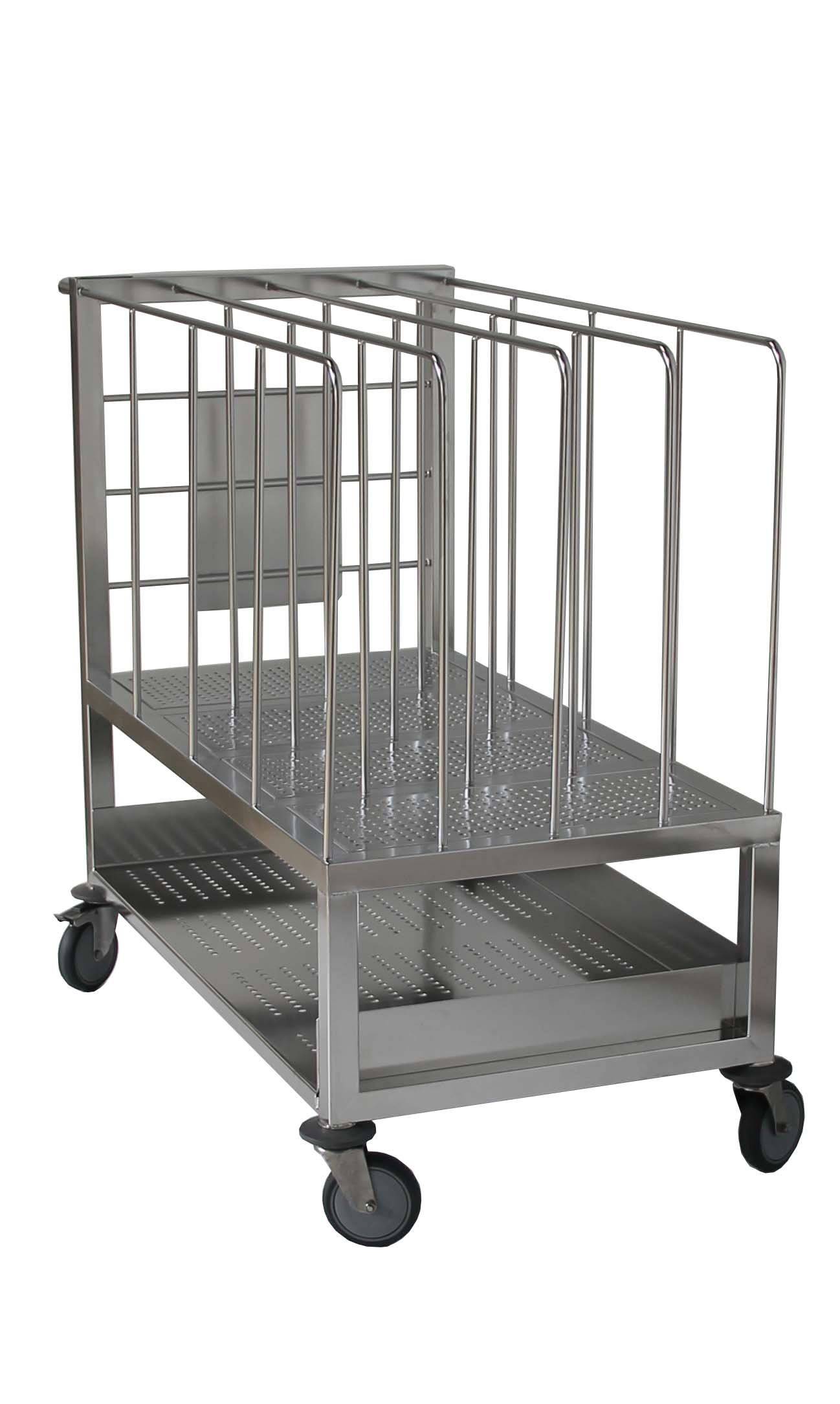 Chariot Transport Intercalaire Vertical Pour Salle Blanche