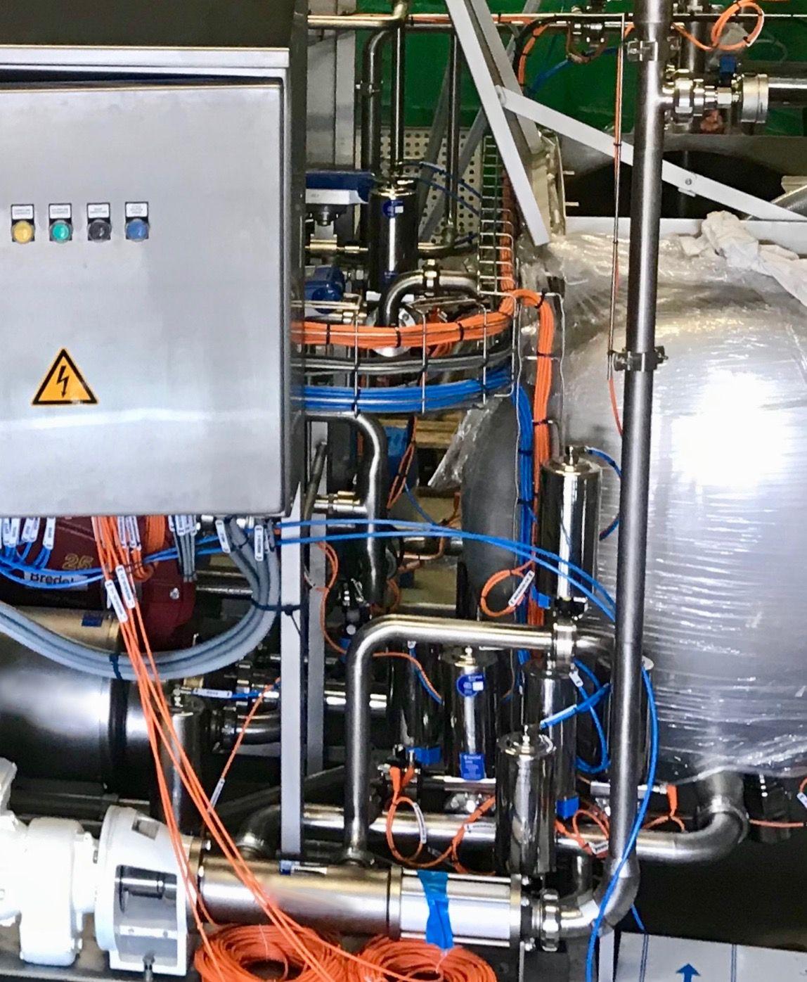 Réalisation d'un SKID par BTCI spécialiste de la tuyauterie, métallurgie et chaudronnerie inox