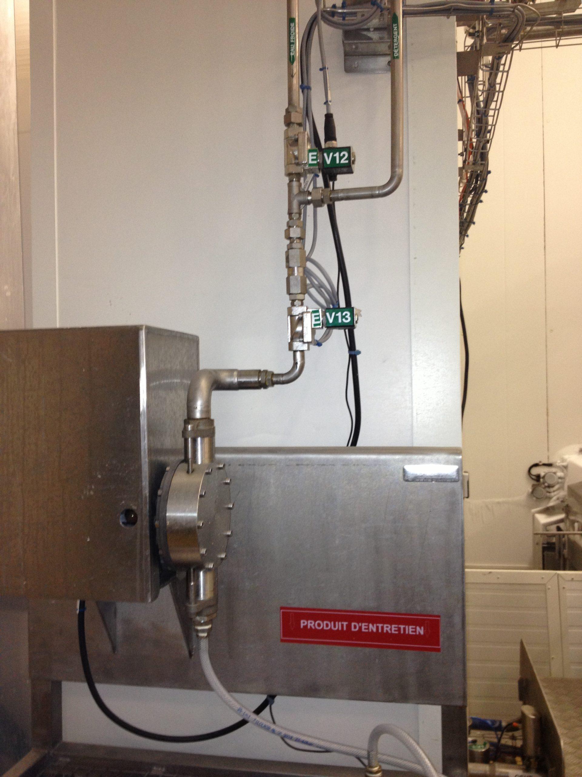 Alimentation laveuse et électro-vannes