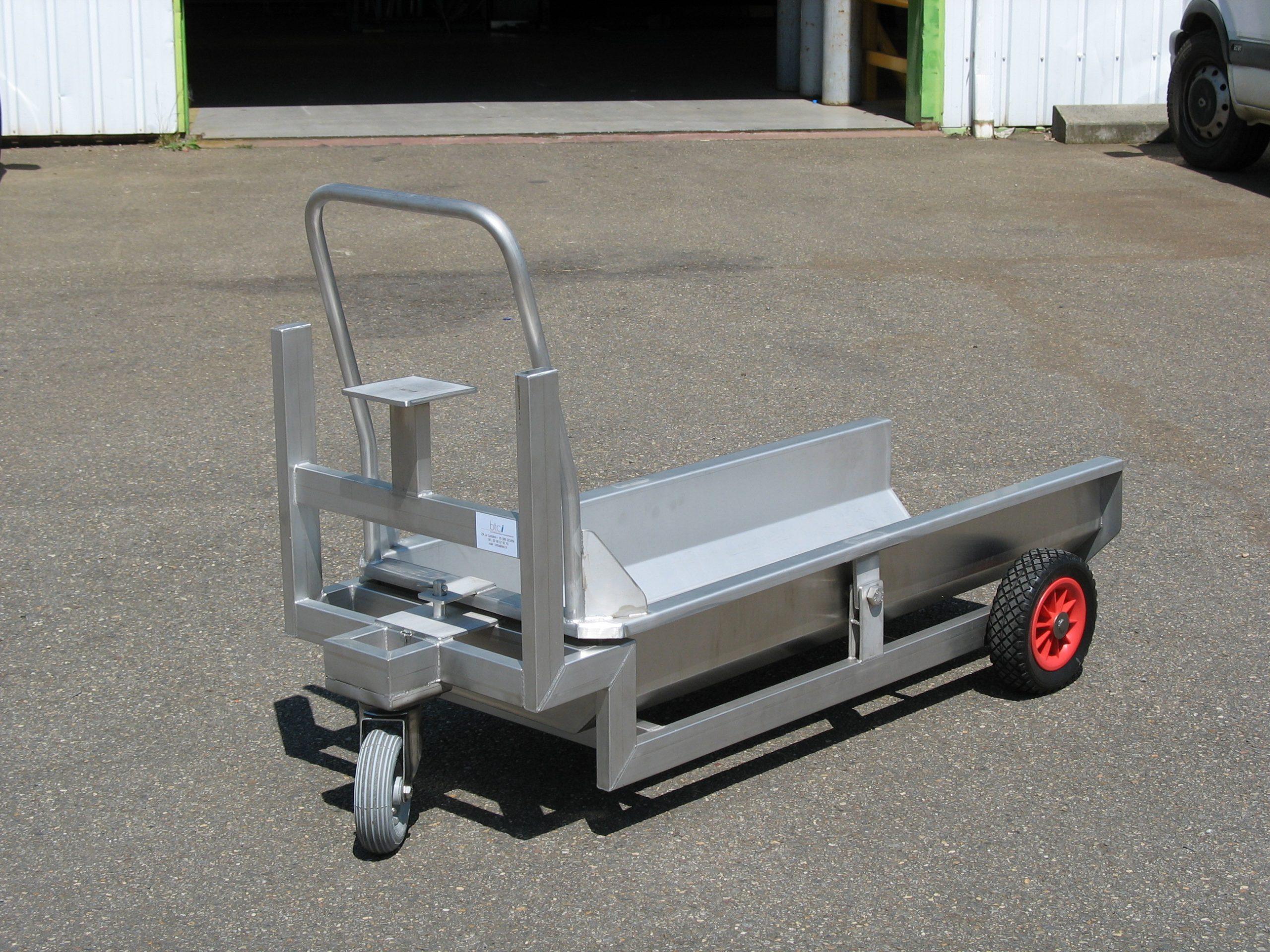 Chariot ambulance pour porcs