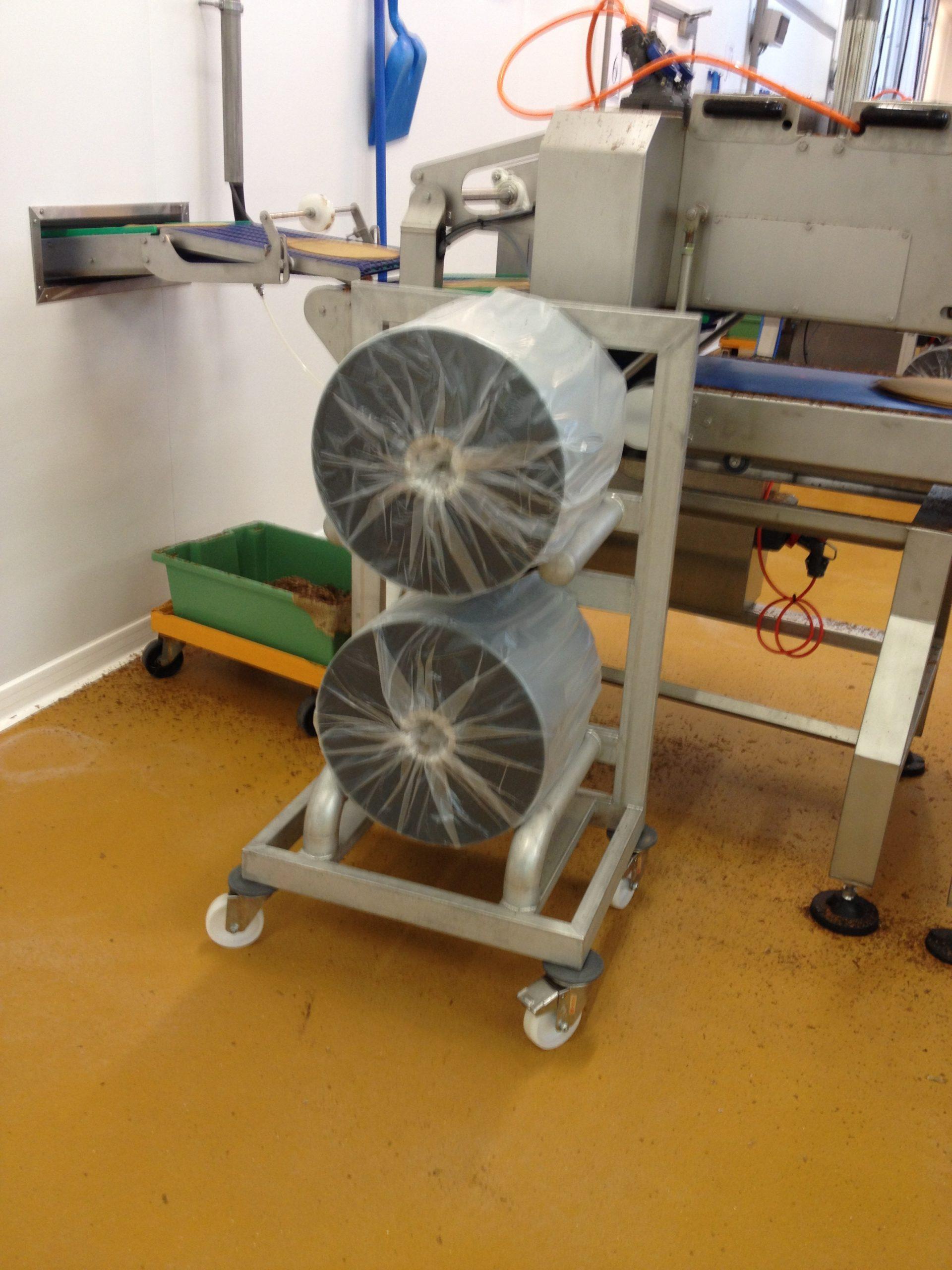 Chariot inox pour bobines