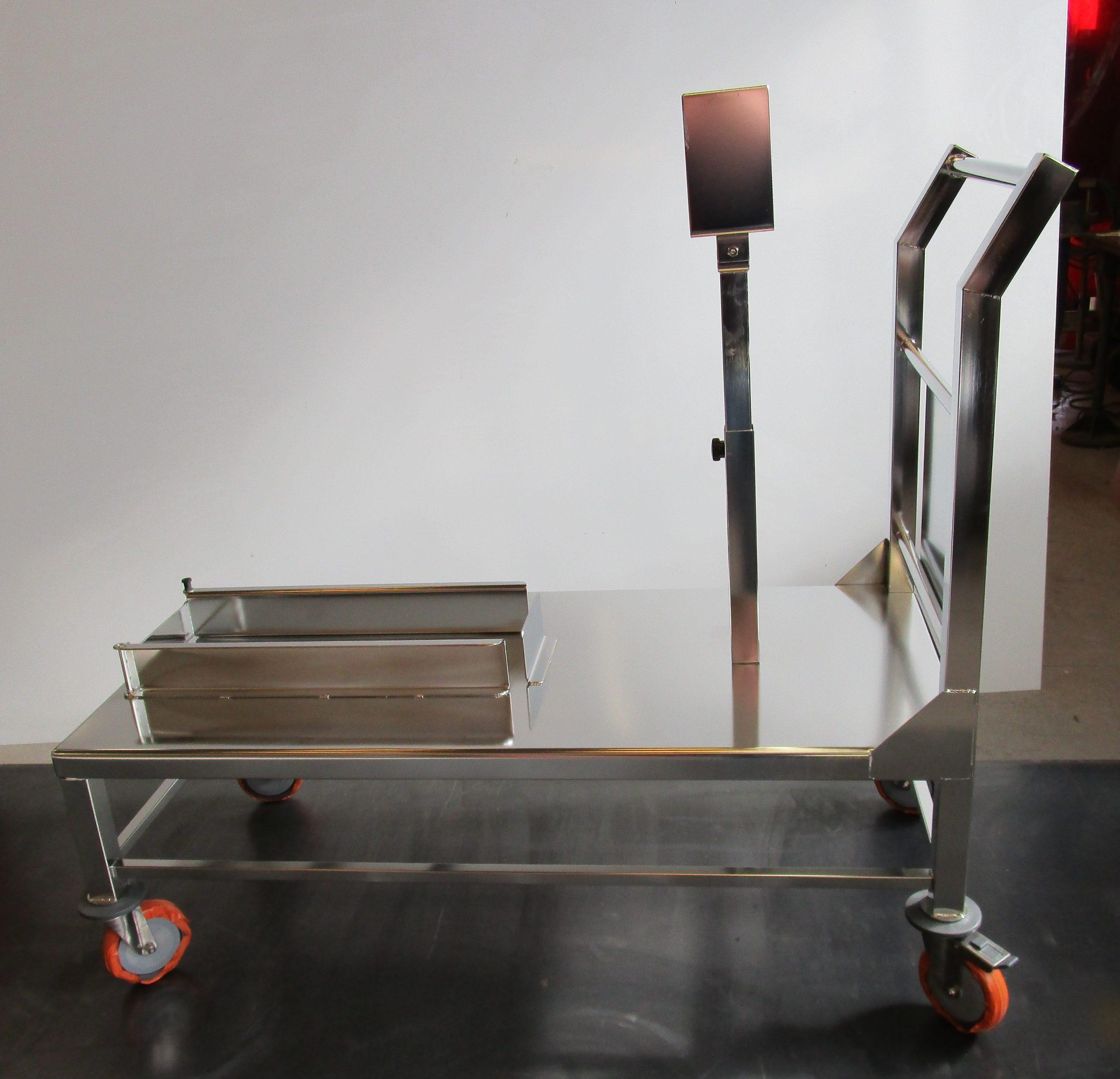 Chariot inox électropoli