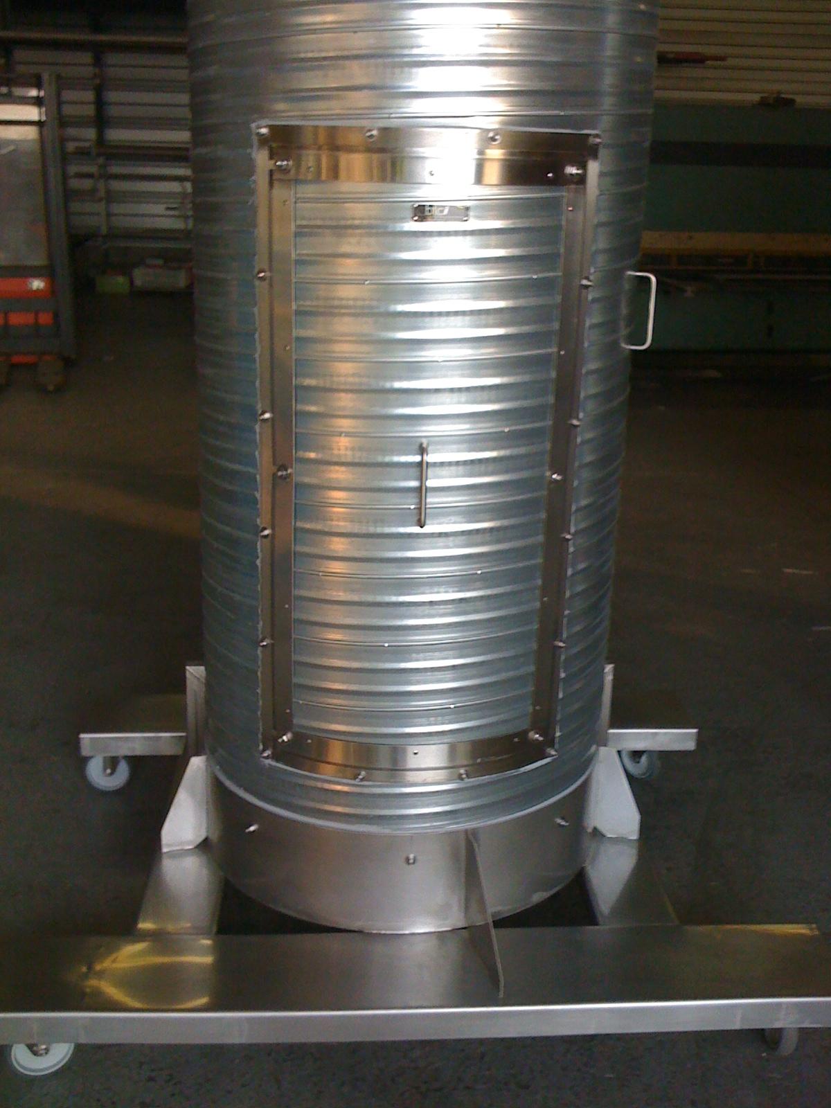 Colonne extraction gaz mobile
