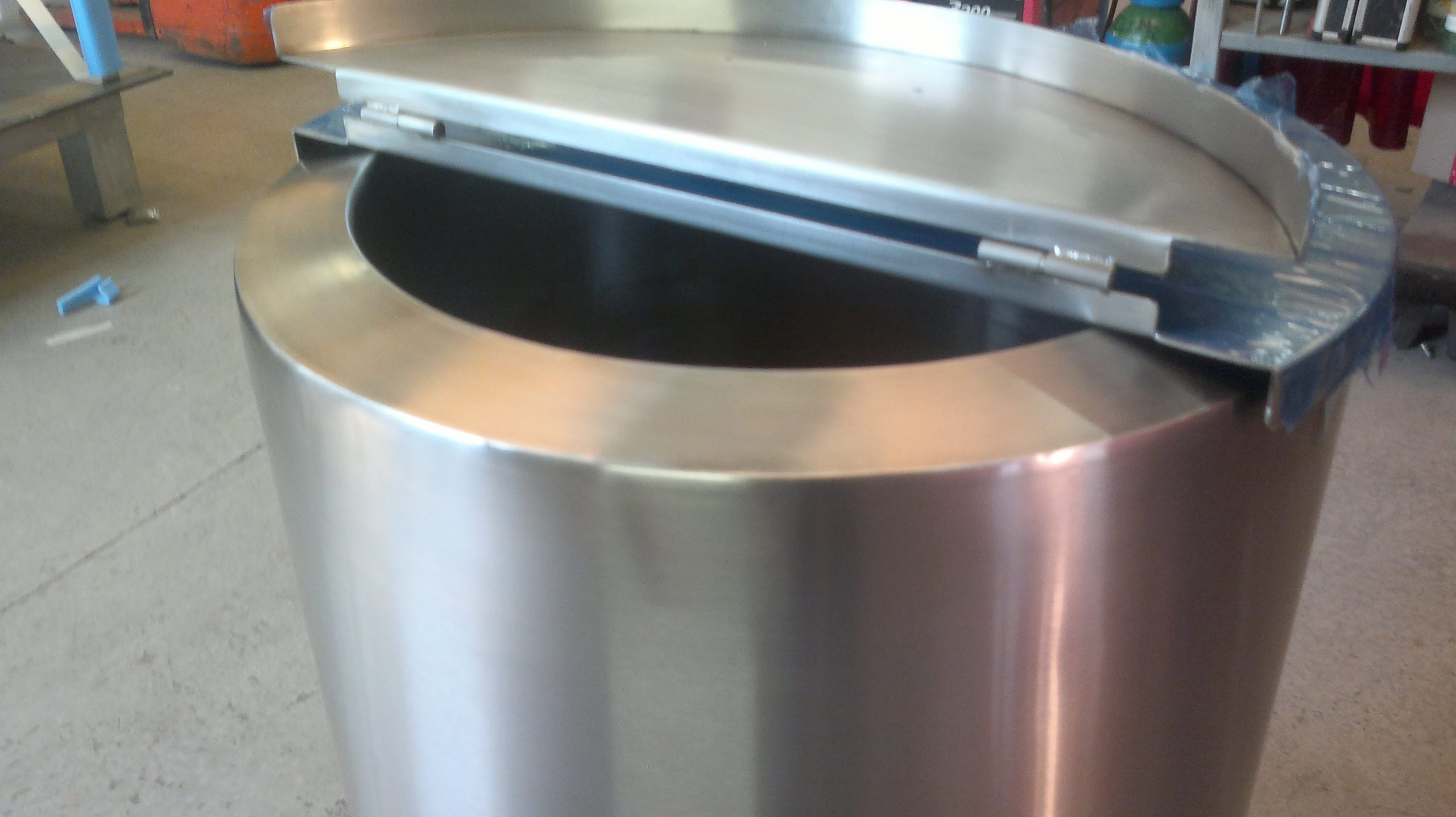 Couvercle cuve inox