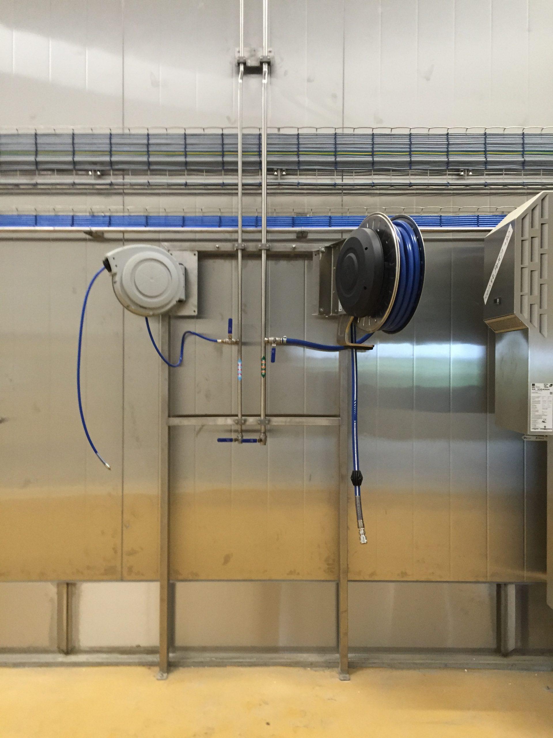 Enrouleurs air comprimé et eau chaude