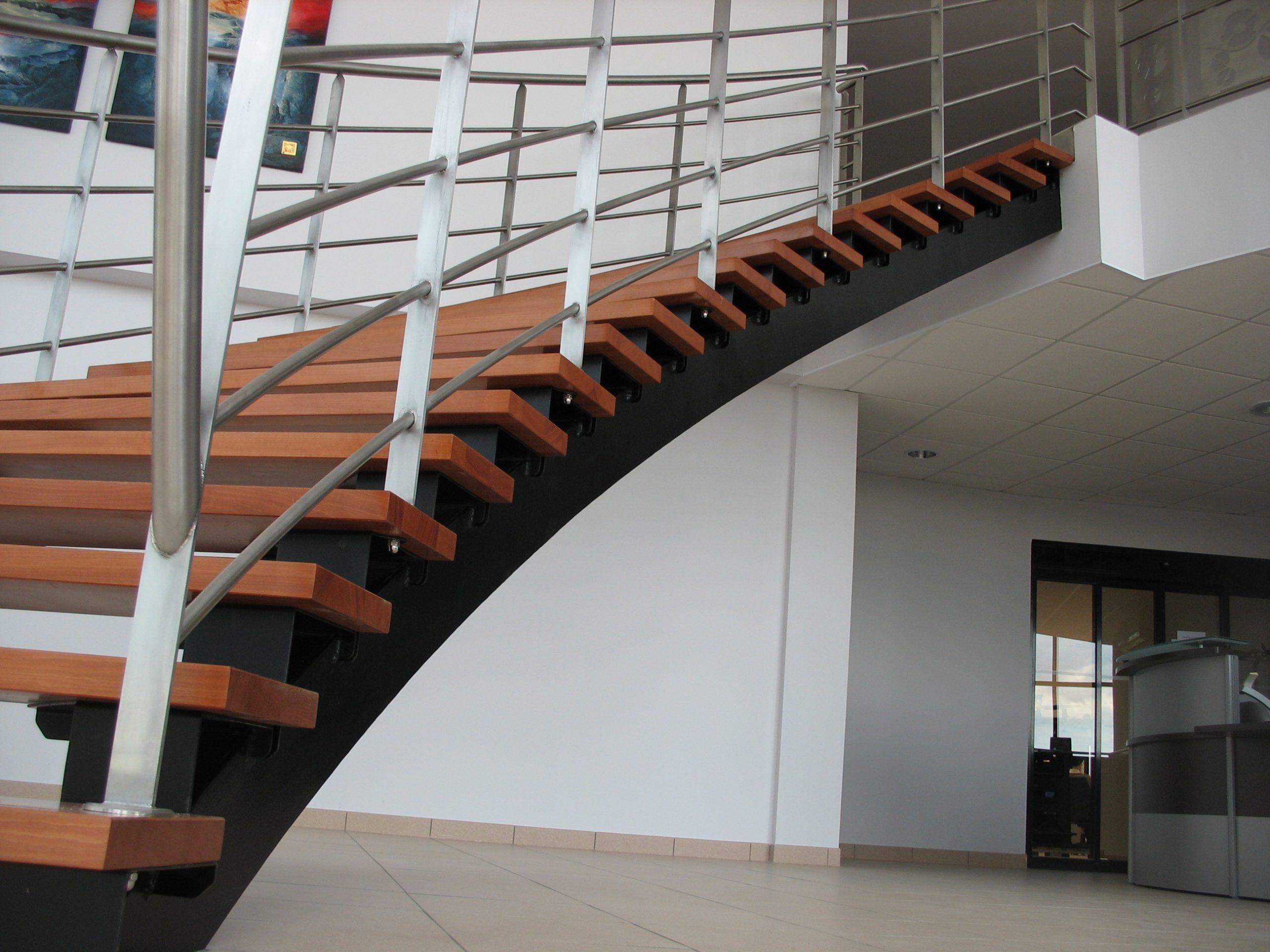 Escalier garde-corps Inox