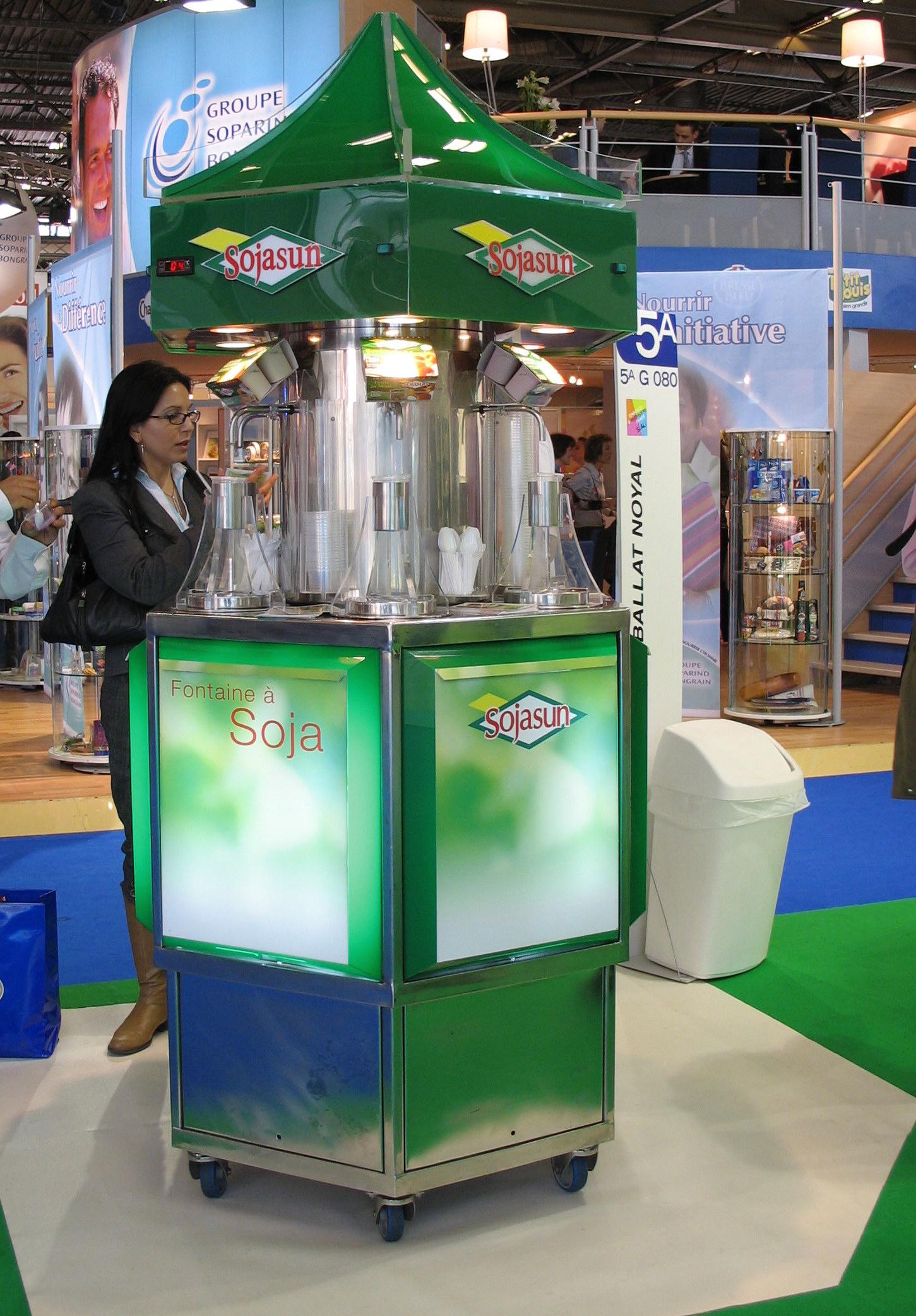 fontaine réfrigérée de desserts lactés