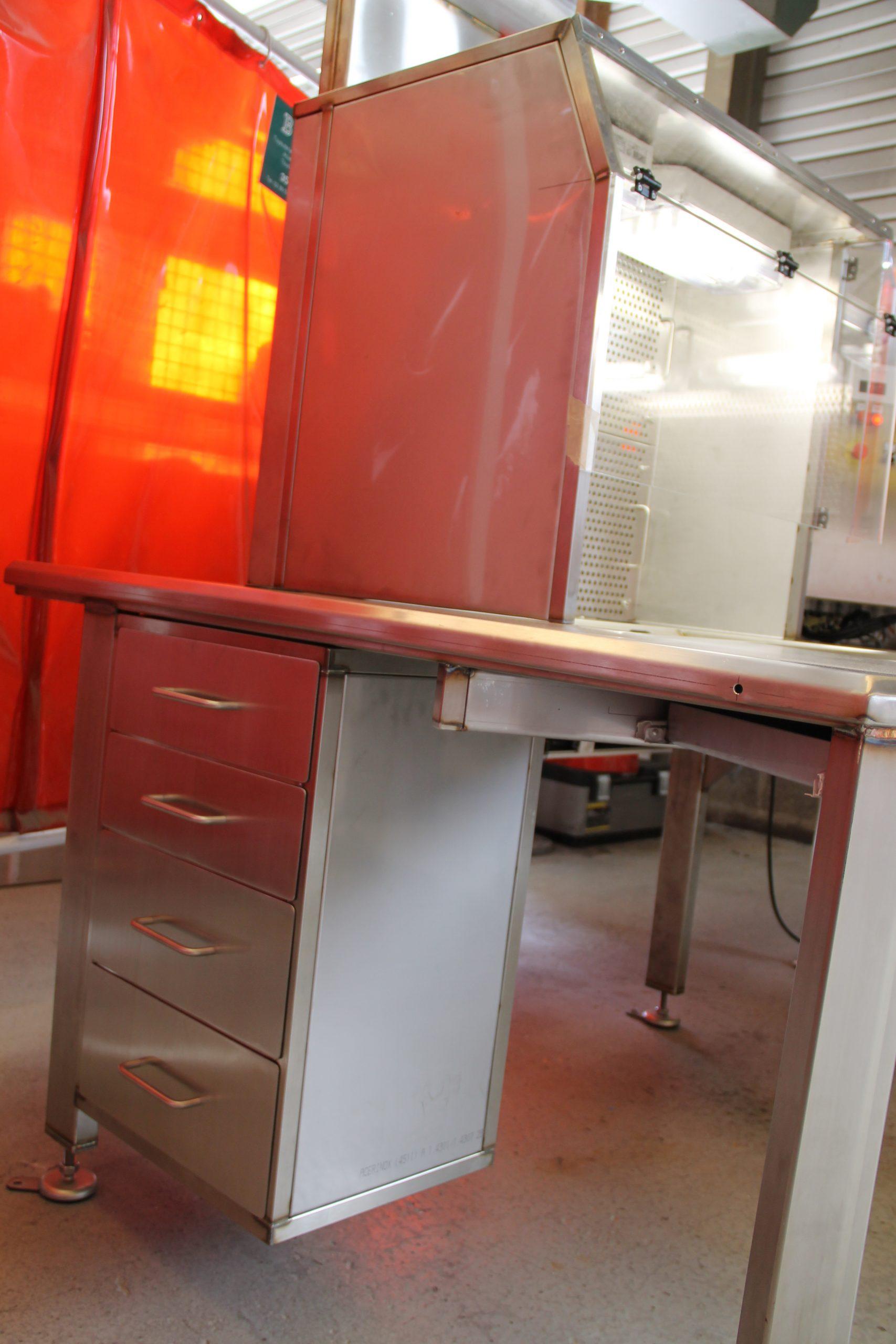 Mobilier inox laboratoire