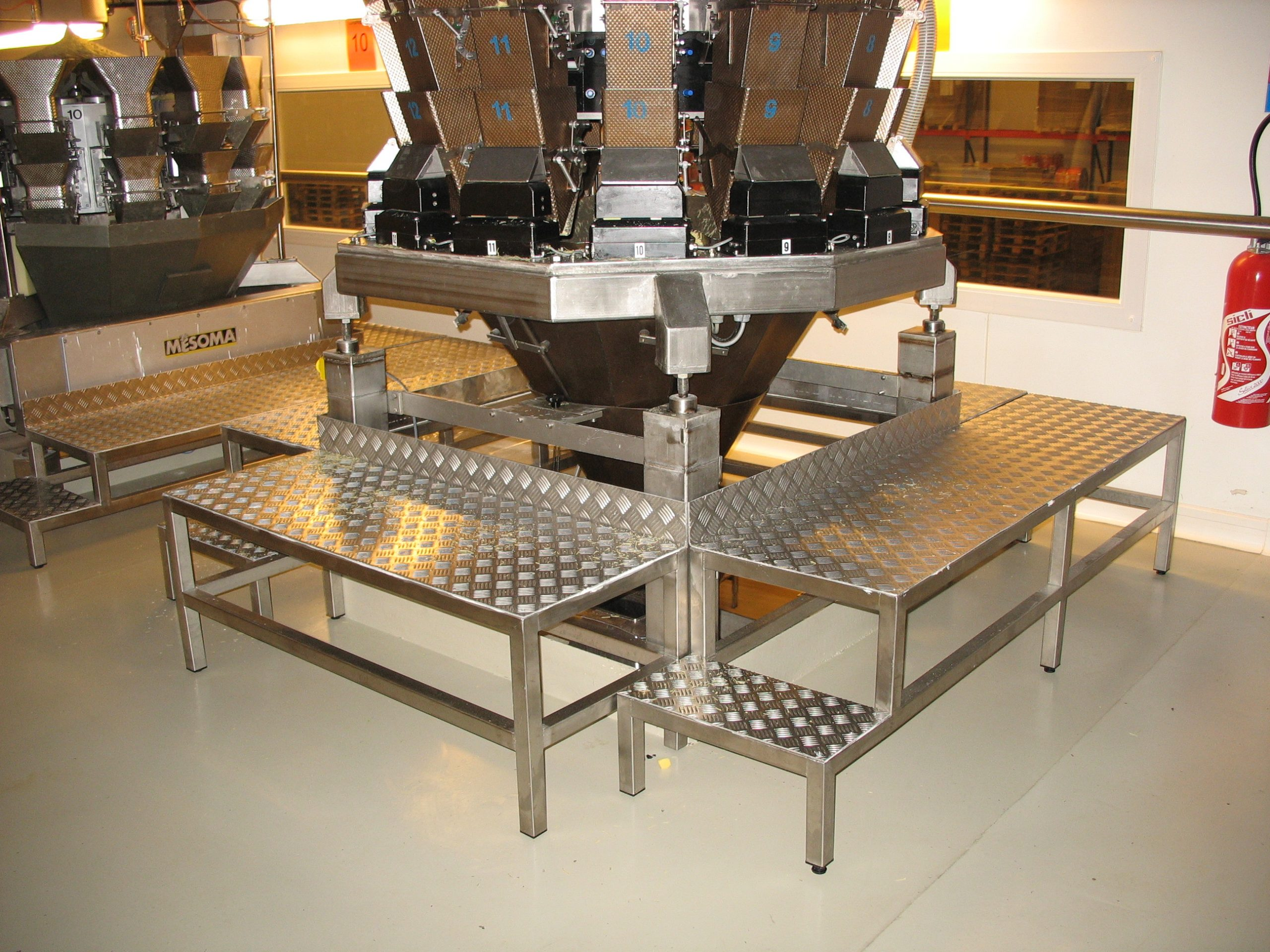Plattelage aluminium et chassis Inox