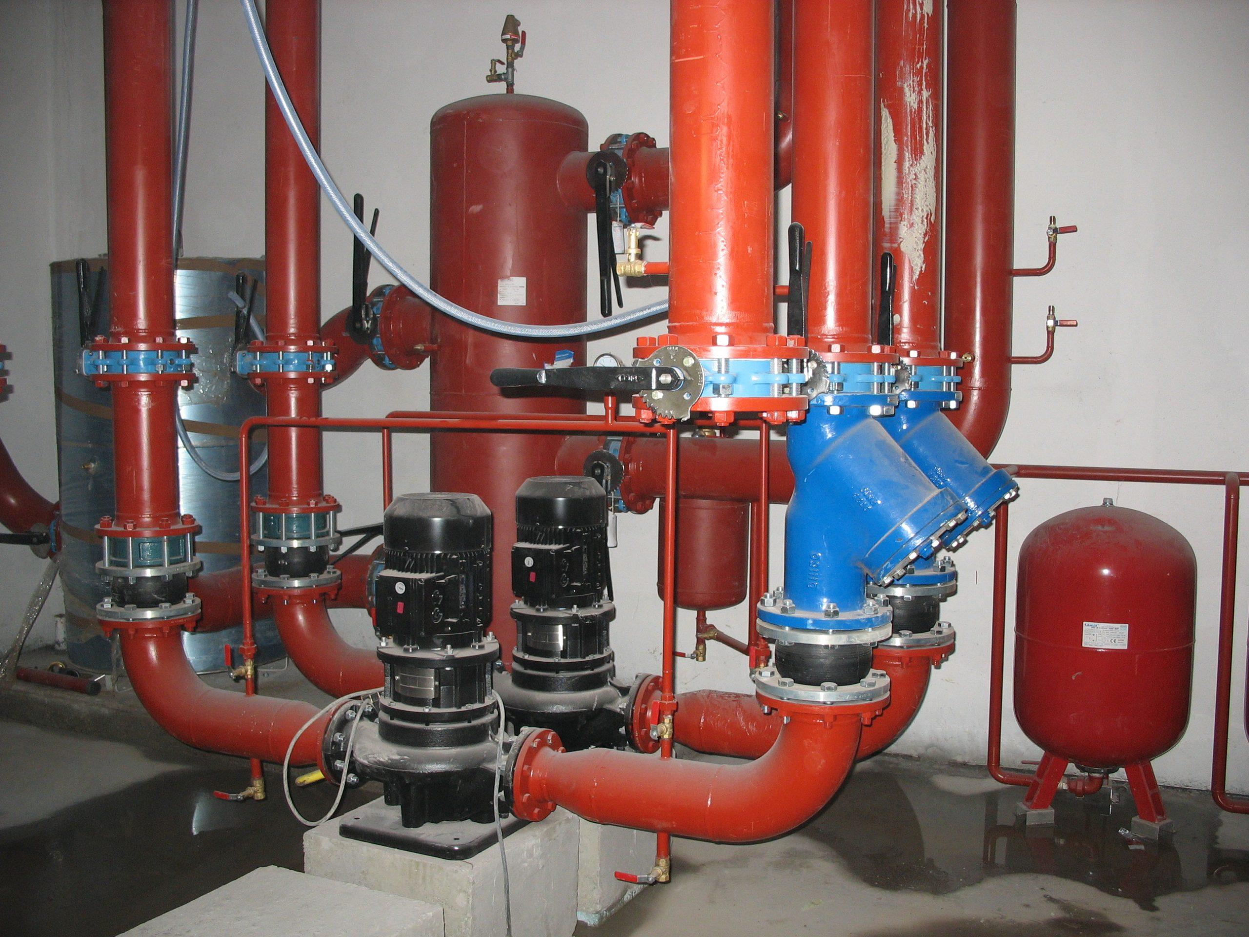 Pompes en eau glycolée