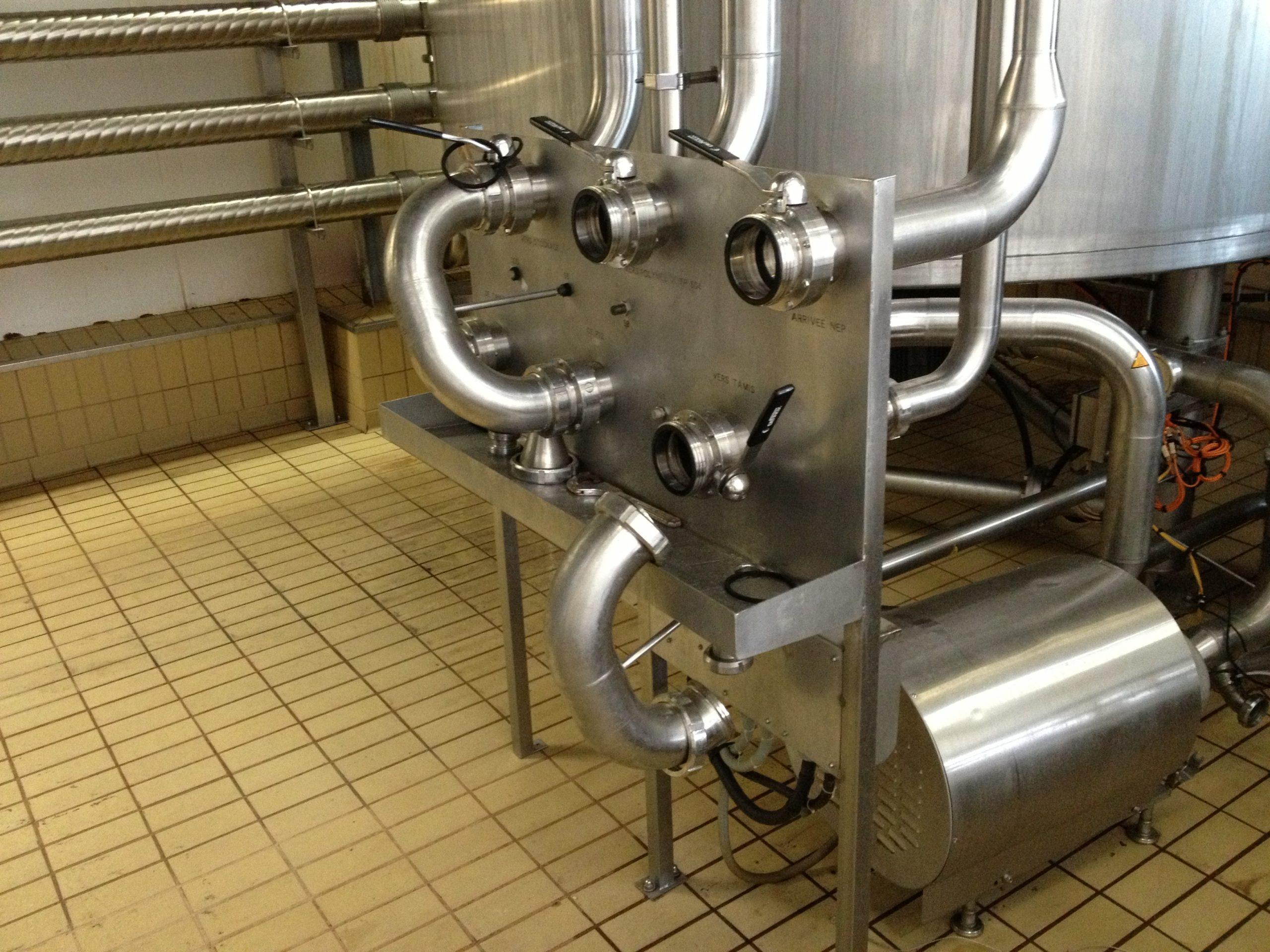 Tableau pontage industrie laitière