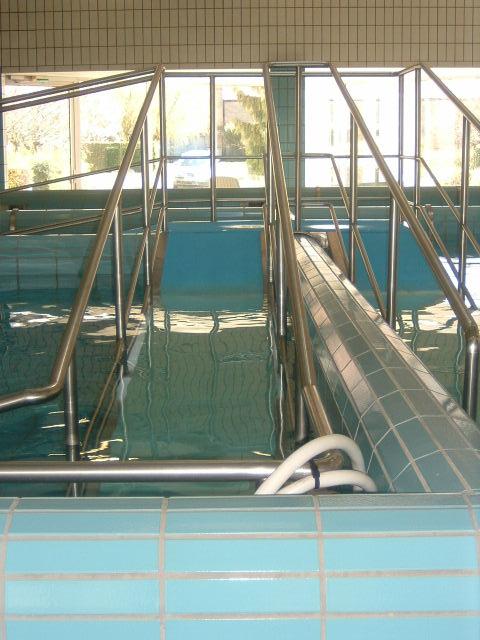 Rampe accès inox pour piscine