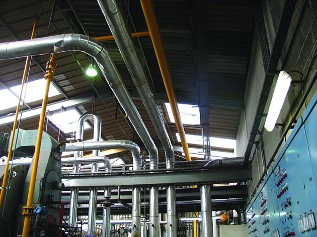 Réseau gaz vapeur chaudières parallèles