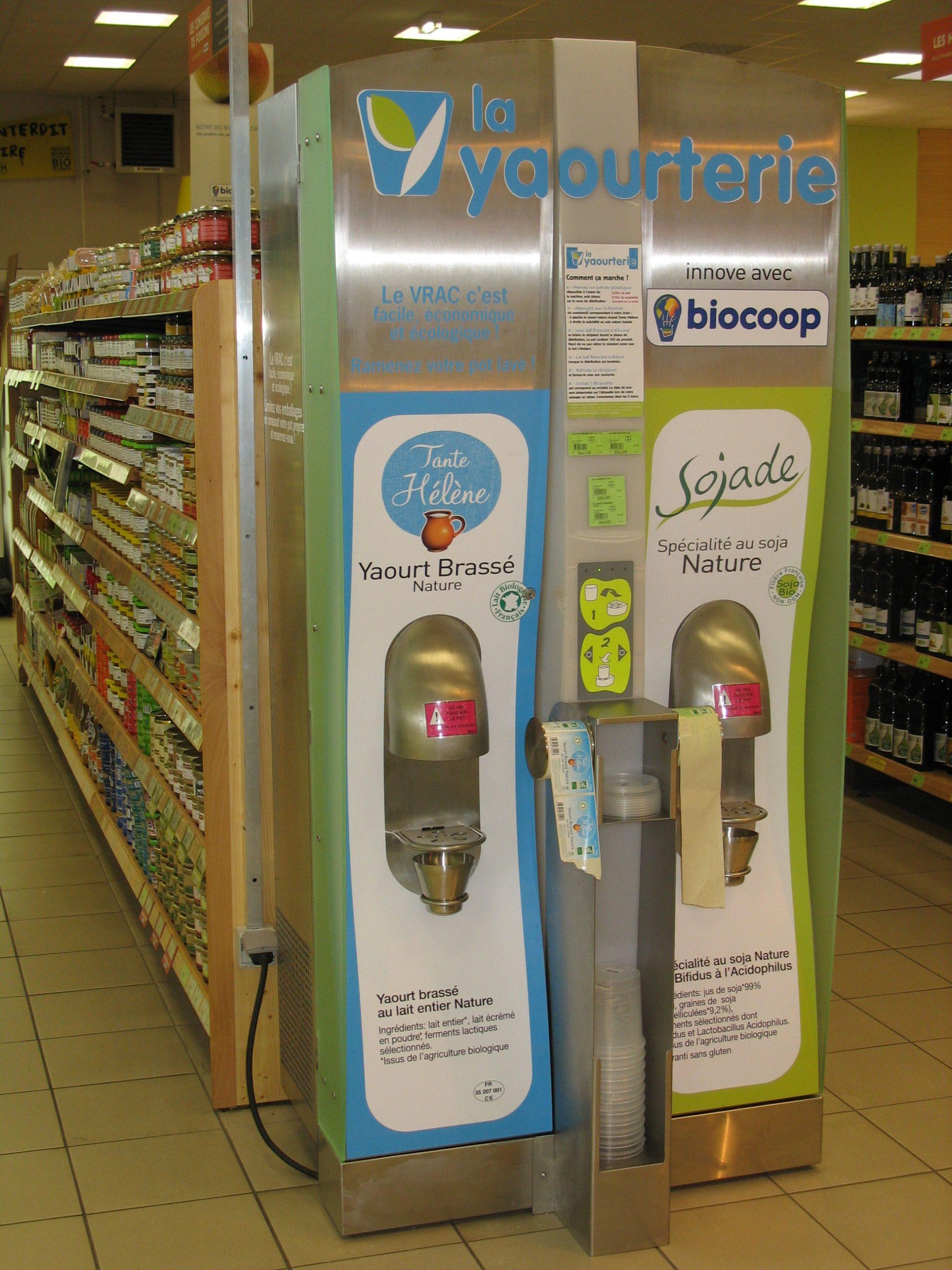 Distributeur automatique yaourts vrac